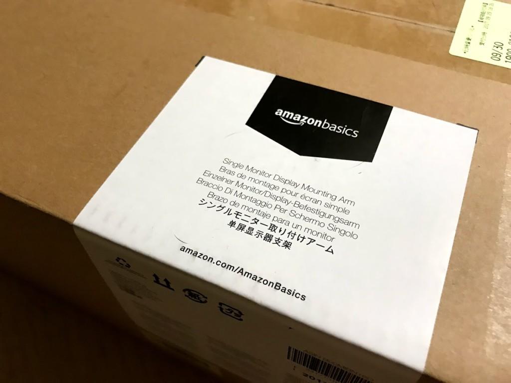 Amazonベーシック モニターアーム シングル (モニターサイズ:32インチまで)