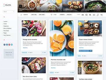 Pluto Pinterest Web layout