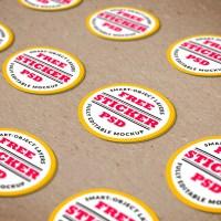 Free PSD | Stickers Mockup