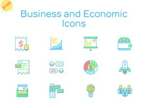 Free Colourfull Business and Economic Icons In All Foramts