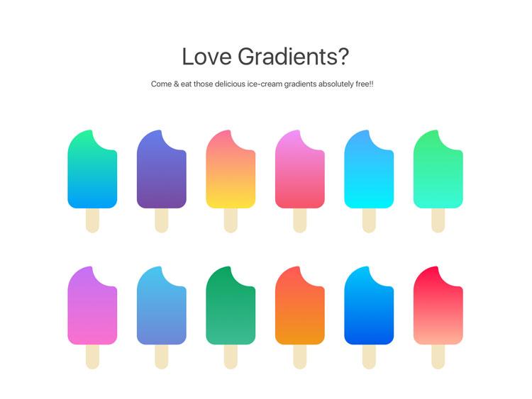 Sketch Gradients Palette Free Download