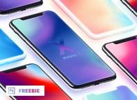 iPhone X - Isometric Mockups + Clay (Freebie)