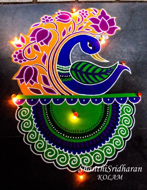 25 Latest Beautiful Rangoli Designs For Diwali Festival 2017