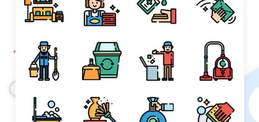 50 Cleaning Icon Set Freebie