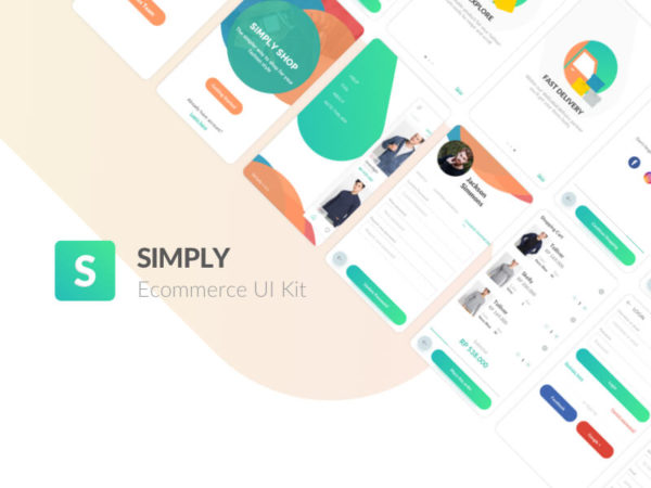 Simply Sketch ecommerce UI Kit Freebie Download