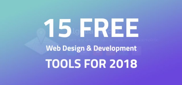 Free Web Design & Development Tools In 2018