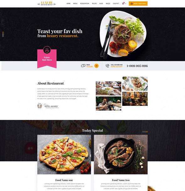 free restaurant psd template 2018