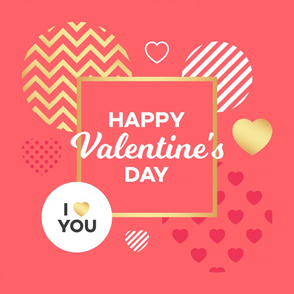 Free Happy Valentines Day Card,Wishes & background Vector