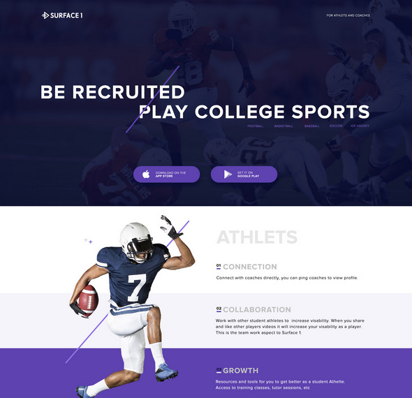 free sports psd web template