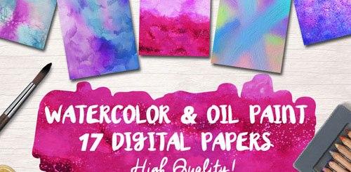 Oil Paint Digital Papers