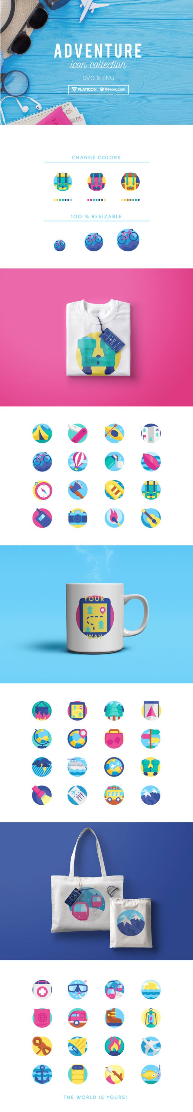 Adventure Icons Collection