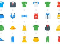 60 Clothes & Accessories Icons