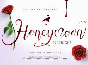 honeymoon font
