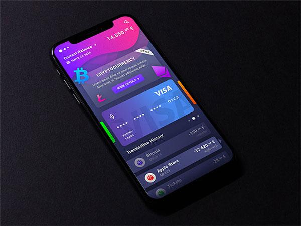 Cryptocurrency App UI Design