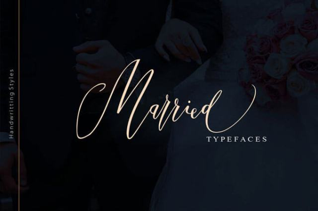 married wedding font