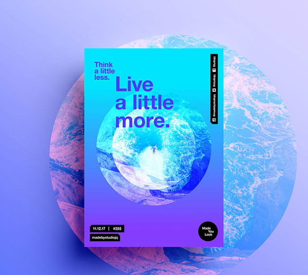 Modern Gradient Poster Designs For Inspiration