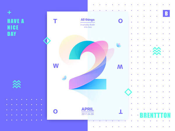 Gradient Poster Designs For Inspiration