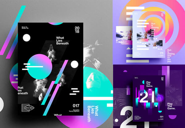 Gradient Poster Designs collection