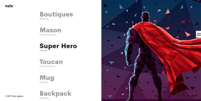 Split Screen Portfolio WordPress Themes