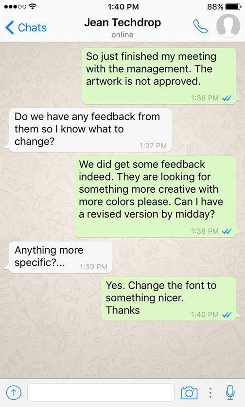 Client and Designer funny conversation