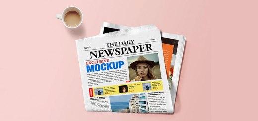 Realistic Newspaper Mockup PSD