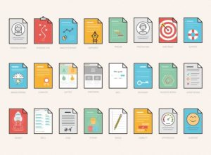 UX Workflow Documents Icons