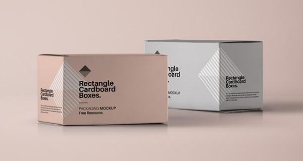 Free Realistic Box Mockups PSD