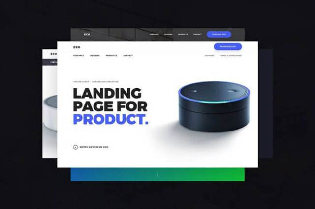 html5 product landing page templates
