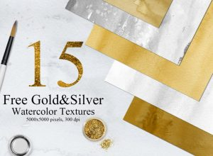 Free GoldSilver Watercolor Textures Download