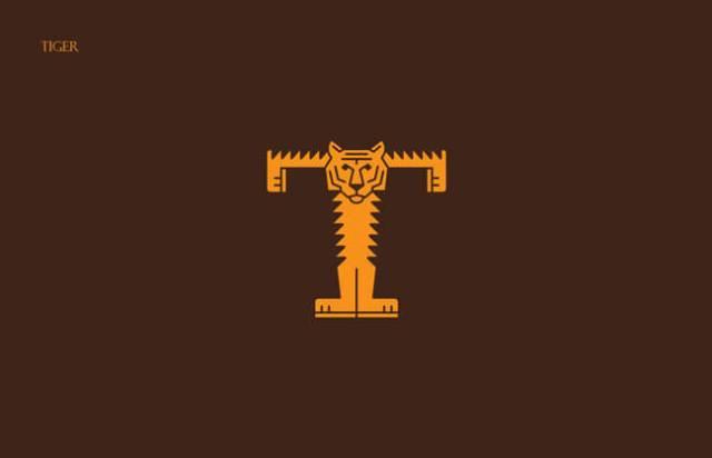 Tiger Clever Alphabetical Logos