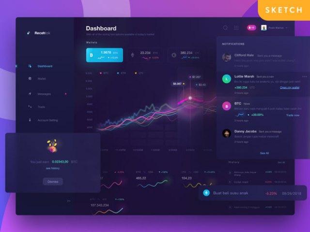 Gradient Crypto Dashboard