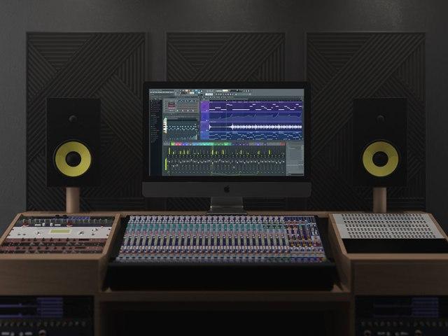 studio iMac mockup template psd
