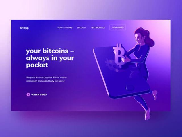 Isometric Illustrations bitcoin design