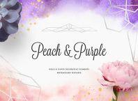 Peach & Purple Artistic Toolkit Free Download