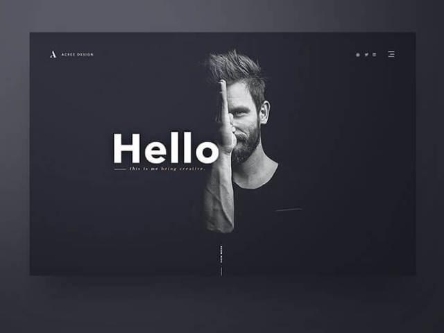 dark background ui design inspiration