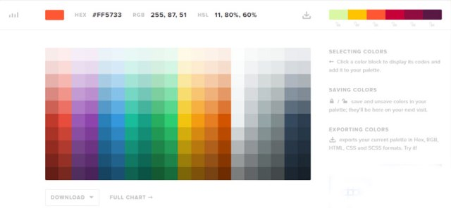 HTML5 Color Cheat Sheets