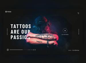 tattoo dark web page design