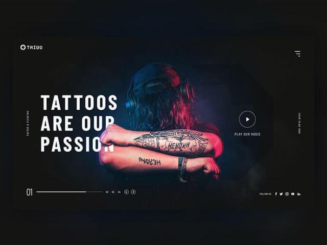tattoo dark web page design