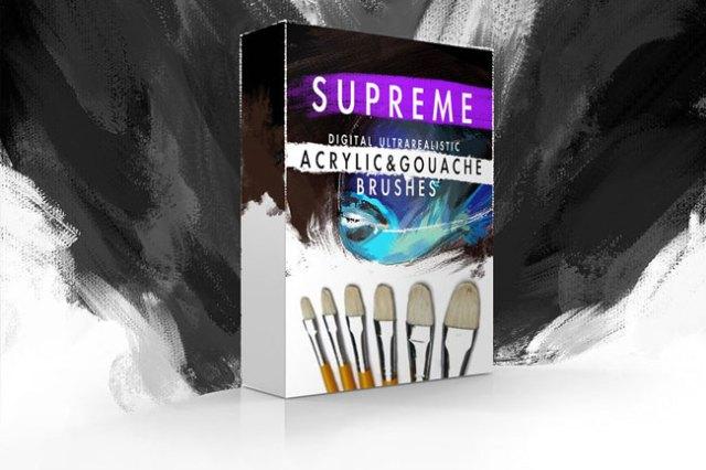 Supreme Acrylic Gouache Photoshop Brushes