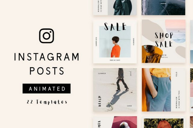 Instagram Ecommerce Post & Stories PSD Templates