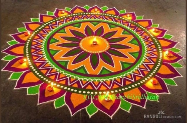diwali latest rangoli design