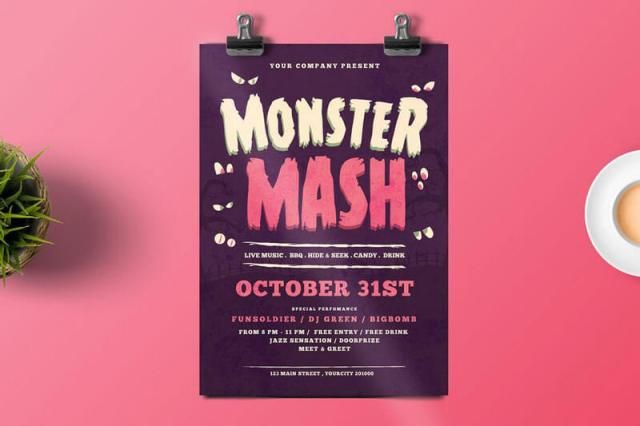 Halloween Monster Flyer Templates