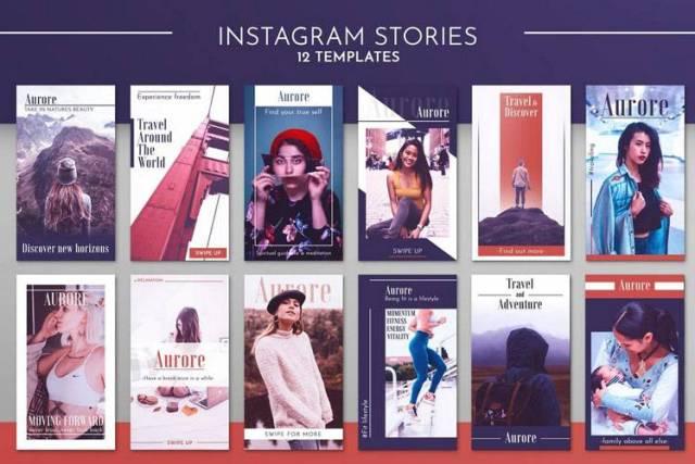 instagram story templates psd