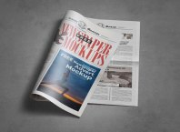Newspaper Ad Mockup PSD Free Download