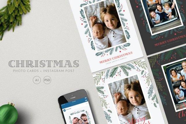 Best Christmas Card PSD Templates