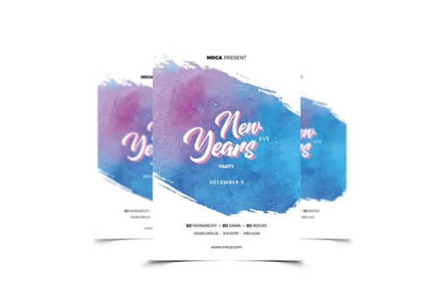 Happy New Year poster Templates