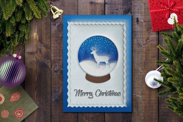Unique Christmas Card PSD Template