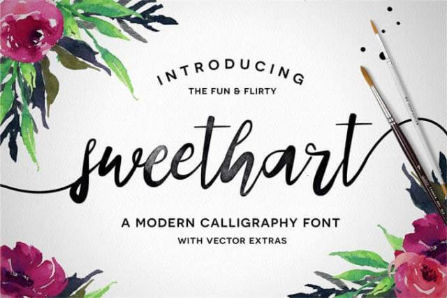sweetheart wedding font download