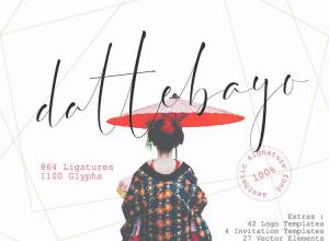 Dattebayo Free Signature Font Download