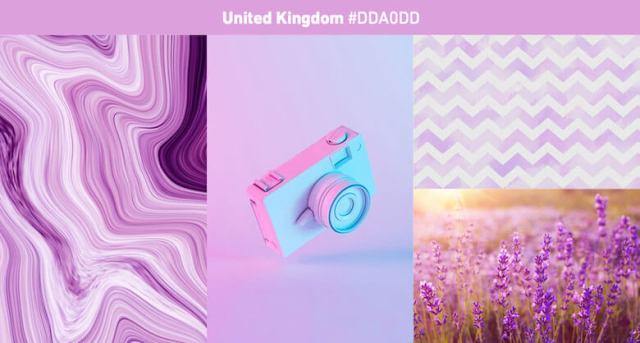 United Kingdom Most popular color in 2019